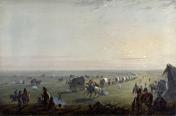 Alfred_Jacob_Miller_Breaking_up_Camp_at_Sunrise